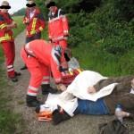 Notarzt im Einsatz, Beinbruch bei einer Caching Tour